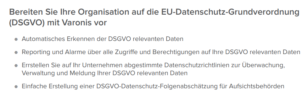 Vorbereitung EU DSGVO